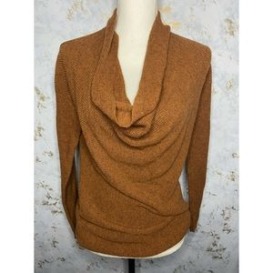 LOFT NWT Brown Cowl Neck Long Sleeve Sweater XS